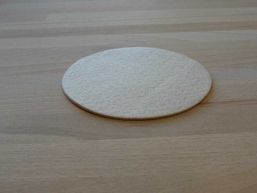Nonwoven Coaster, set of 6 or 12, diameter = 11.2 cm, beige