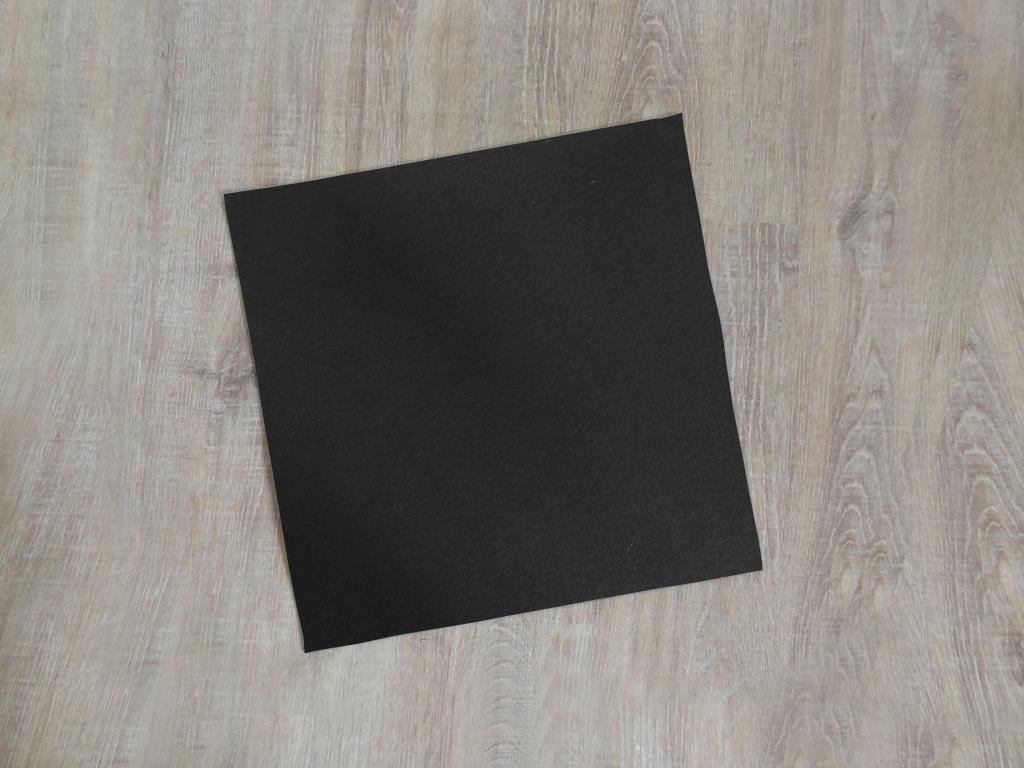 Platzset quadratisch 38x38 cm im 4er Set ohne Glasuntersetzer, Schwarz
