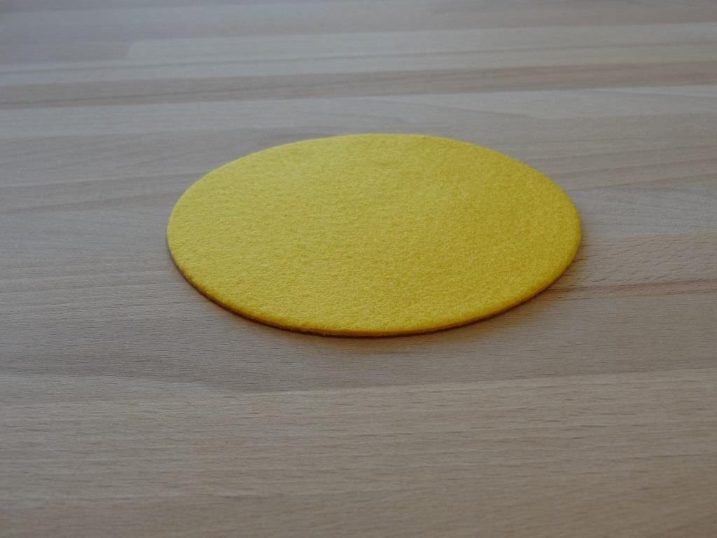 Glasuntersetzer Vlies 12er Set, D=11,2 cm, Gelb
