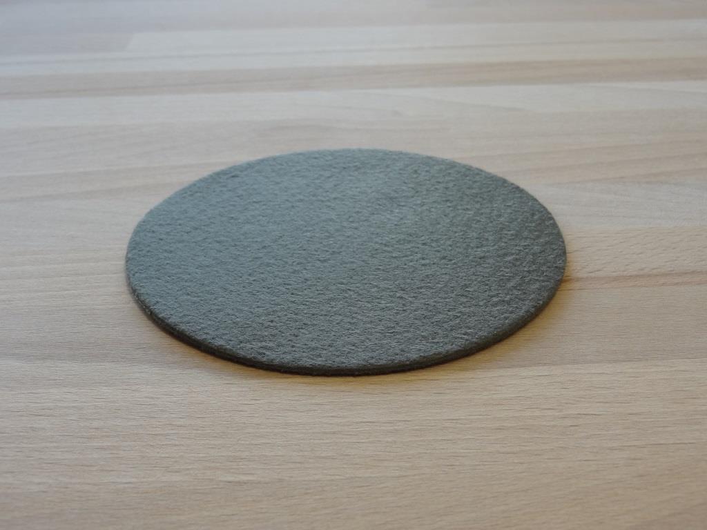 Nonwoven Coaster, set of 6, diameter = 11.2 cm, khaki
