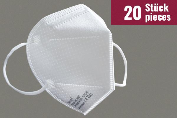 Nora F Schutzmasken mit FFP2-Zertifizierung - 20 Stück