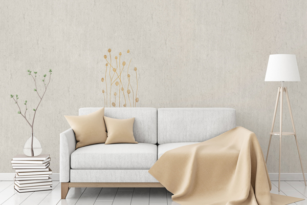 """Flax Wallpaper embroidered """"gras short"""" - various colors"""