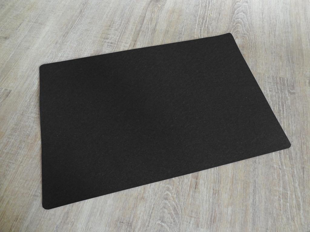 Placemats 30x45 cm in a set of 4 without round glass coasters, black