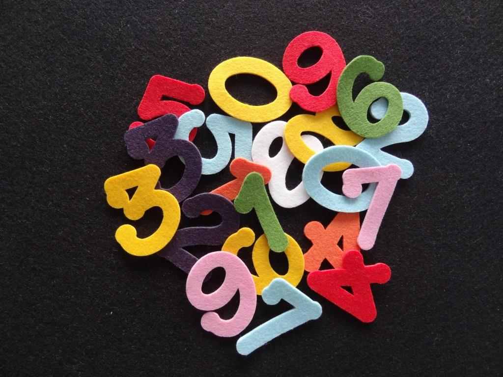 Die-Cuts Numbers, 20 pieces