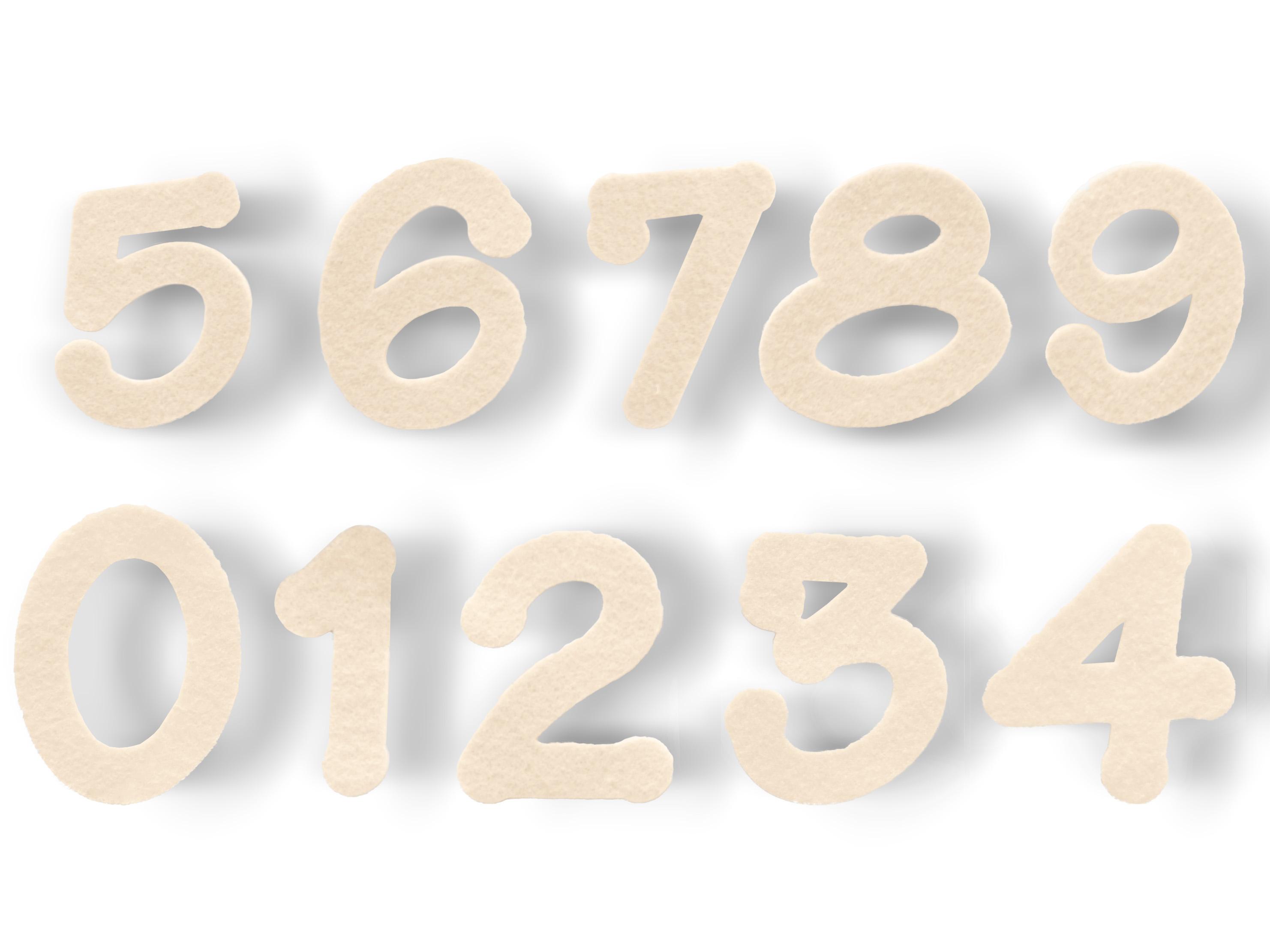 Stanzlinge Zahlen, 20 Stück