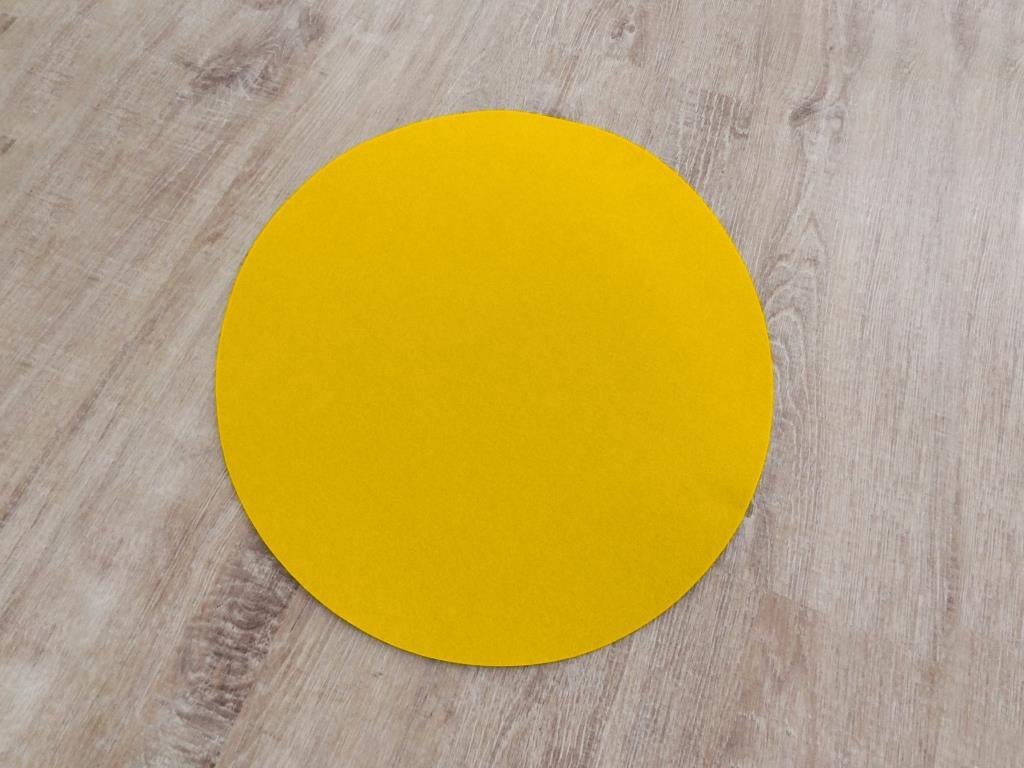 Platzset rund, D=40cm/ Stück, Gelb