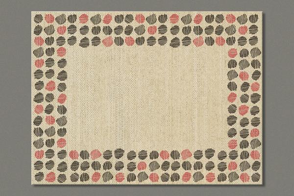 "Platzset aus Flachs ""Lined dots"" 40x30 cm im 6er Set"