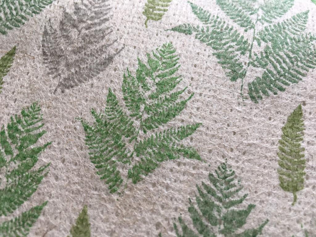 "Flax Table Runner ""Farn pattern"" 300x16.5 cm"