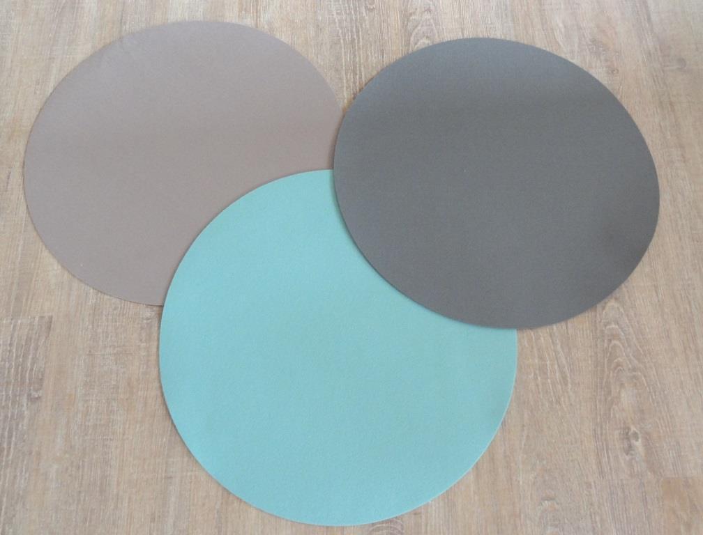 Platzset rund, D=40cm/ Stück, verschiedene Farben