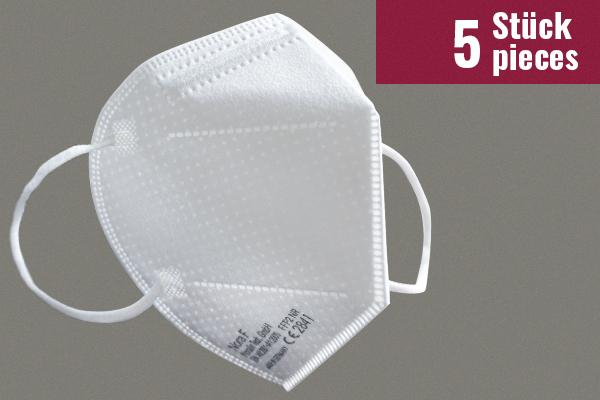 Nora F Schutzmasken mit FFP2-Zertifizierung - 5 Stück