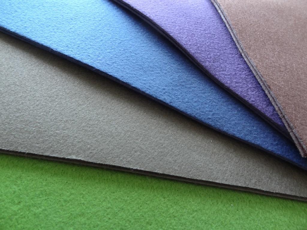 Bastelvlies A4 10er Pack - grün, khaki, royalblau, violett, mocca
