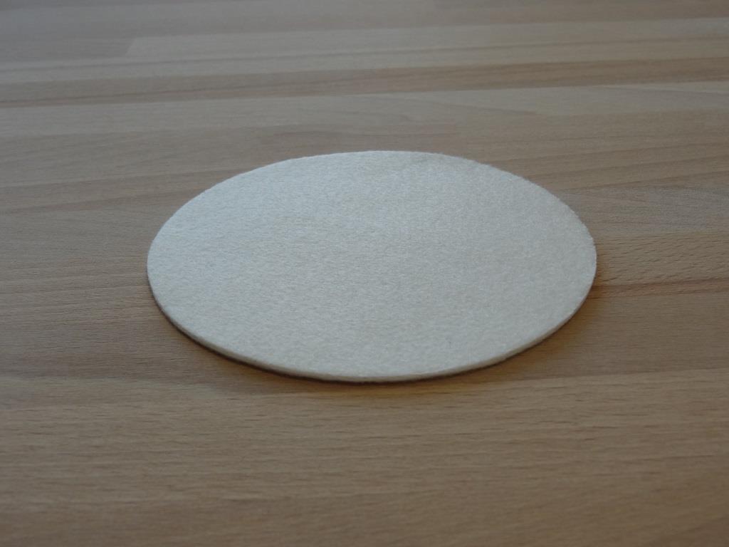 Nonwoven Coaster, set of 12, diameter = 11.2 cm, white