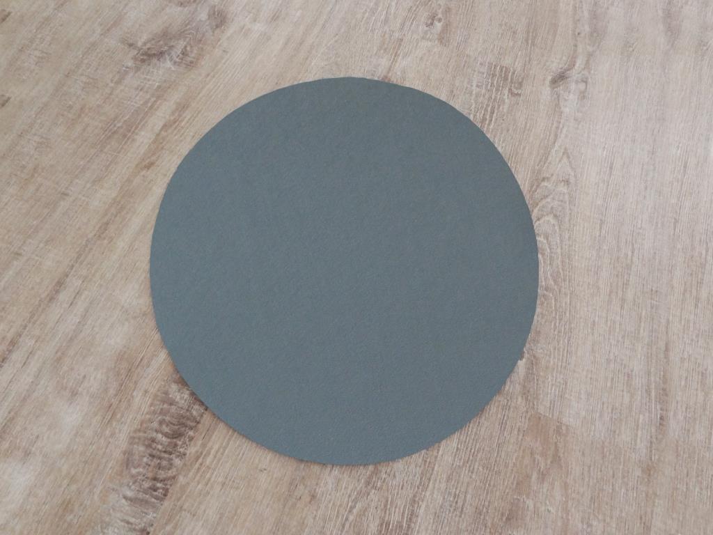Platzset rund im 8er Set mit Glasuntersetzer, Grau