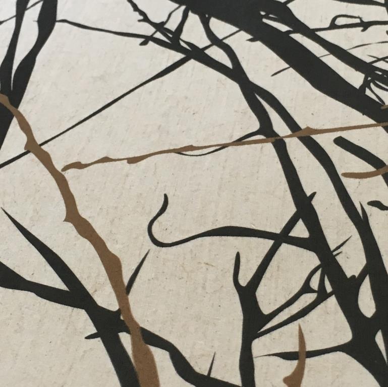 "Flachstapete bedruckt ""Branches"""