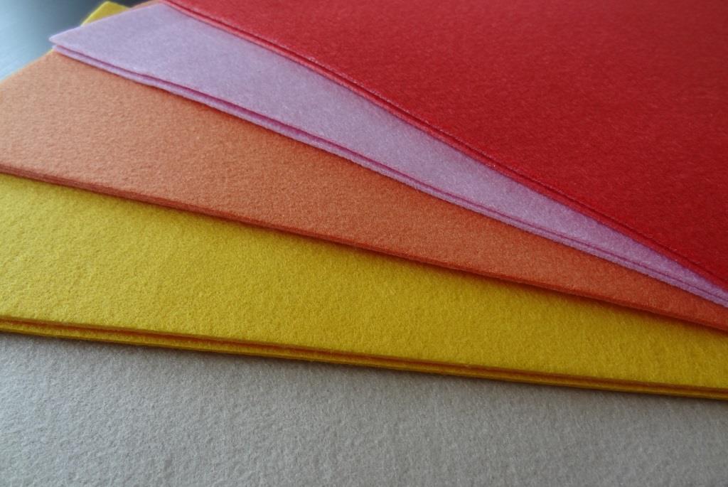 Bastelvlies A4 10er Pack - rot, rosa, orange, gelb, beige