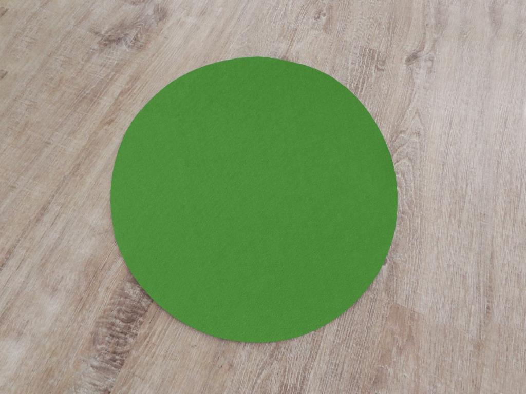 Platzset rund im 4er Set ohne Glasuntersetzer, Grün
