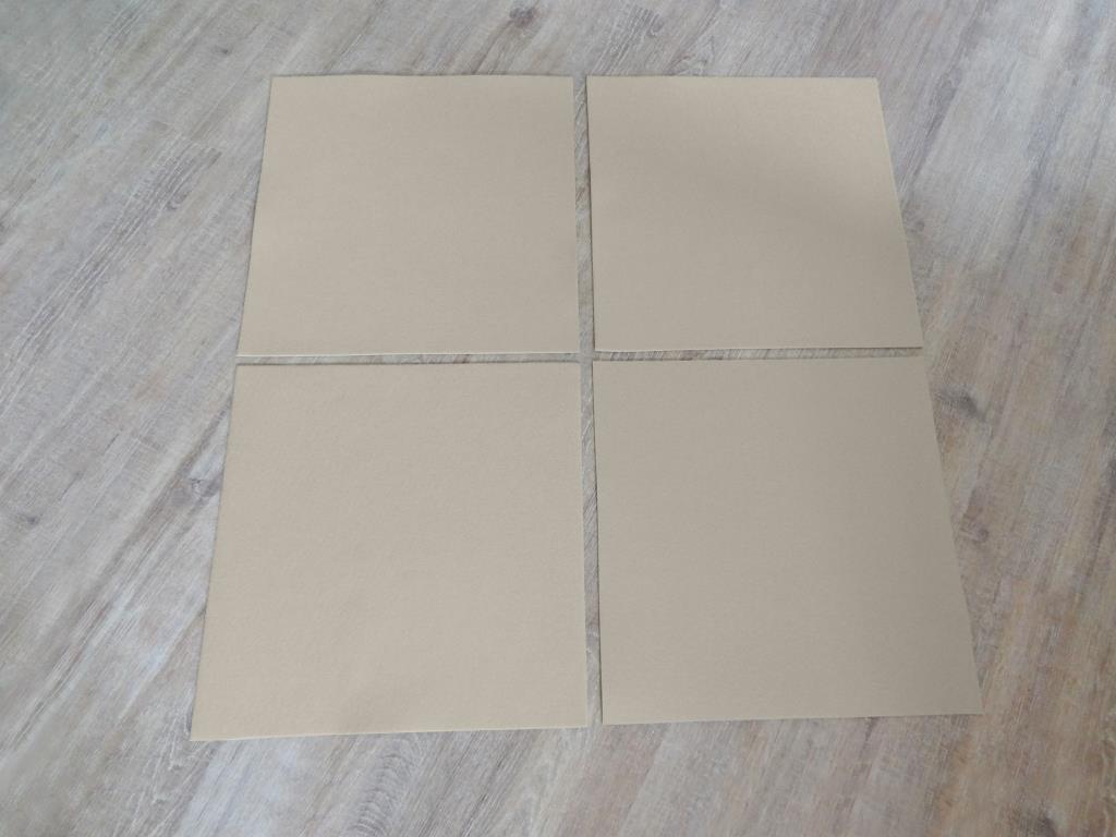 Platzset quadratisch 38x38 cm im 4er Set mit Glasuntersetzer, Beige
