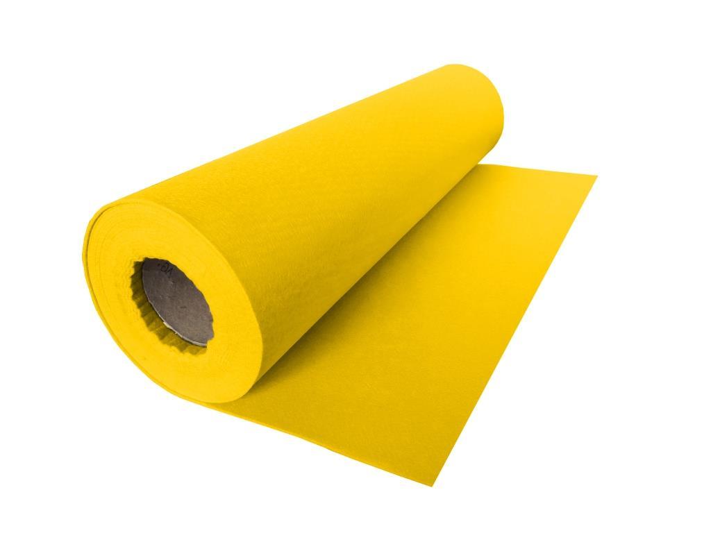 Handicraft Nonwovens, linear meter, yellow - 0.53 m