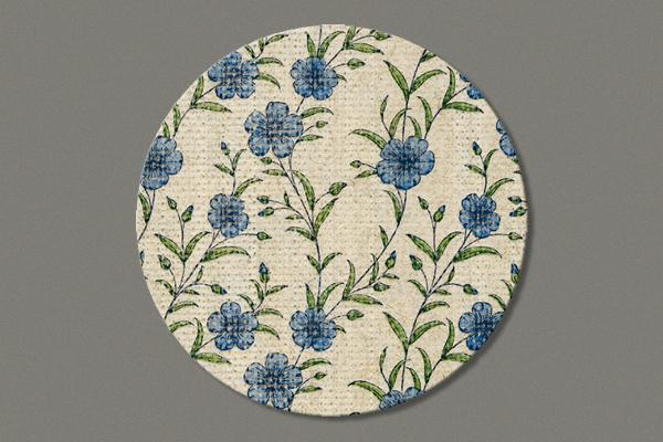 """Untersetzer aus Flachs """"Flax pattern"""" im 12er Set, D=10 cm"""