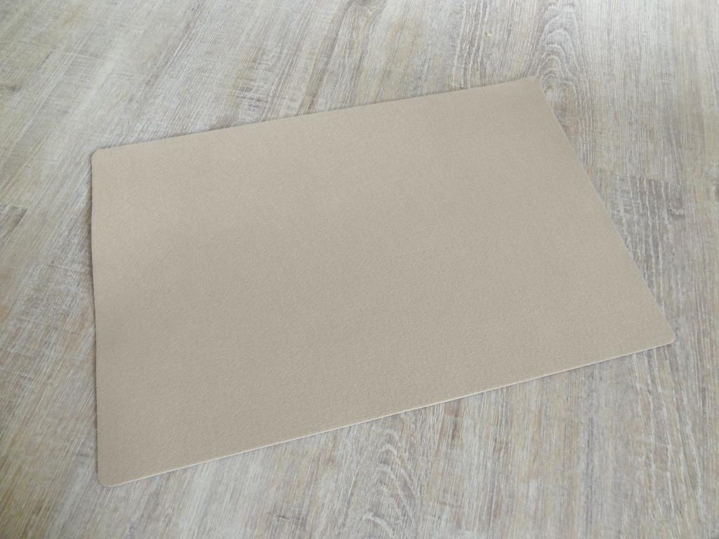 Platzset 30x45 cm im 4er Set mit Glasuntersetzer, Beige