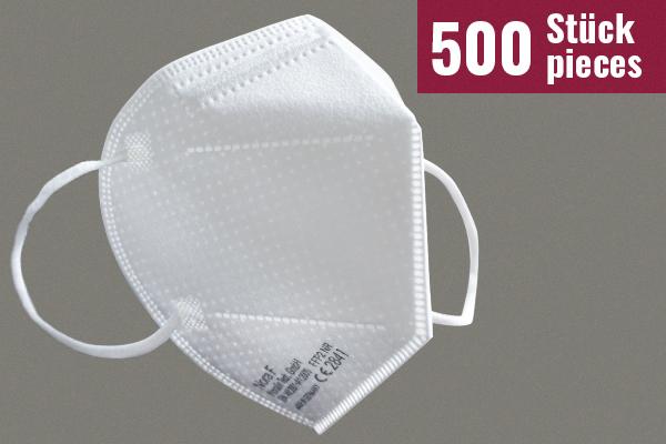 Nora F Schutzmasken mit FFP2-Zertifizierung - 500 Stück