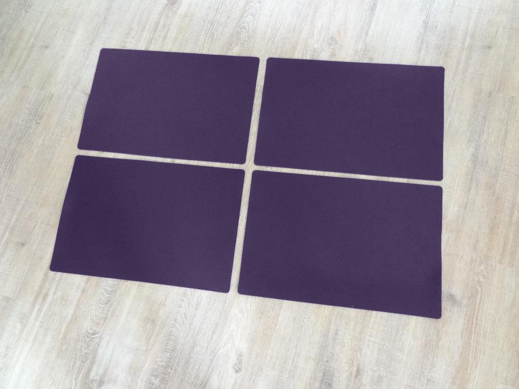Platzset 30x45 cm im 4er Set ohne Glasuntersetzer, Violett
