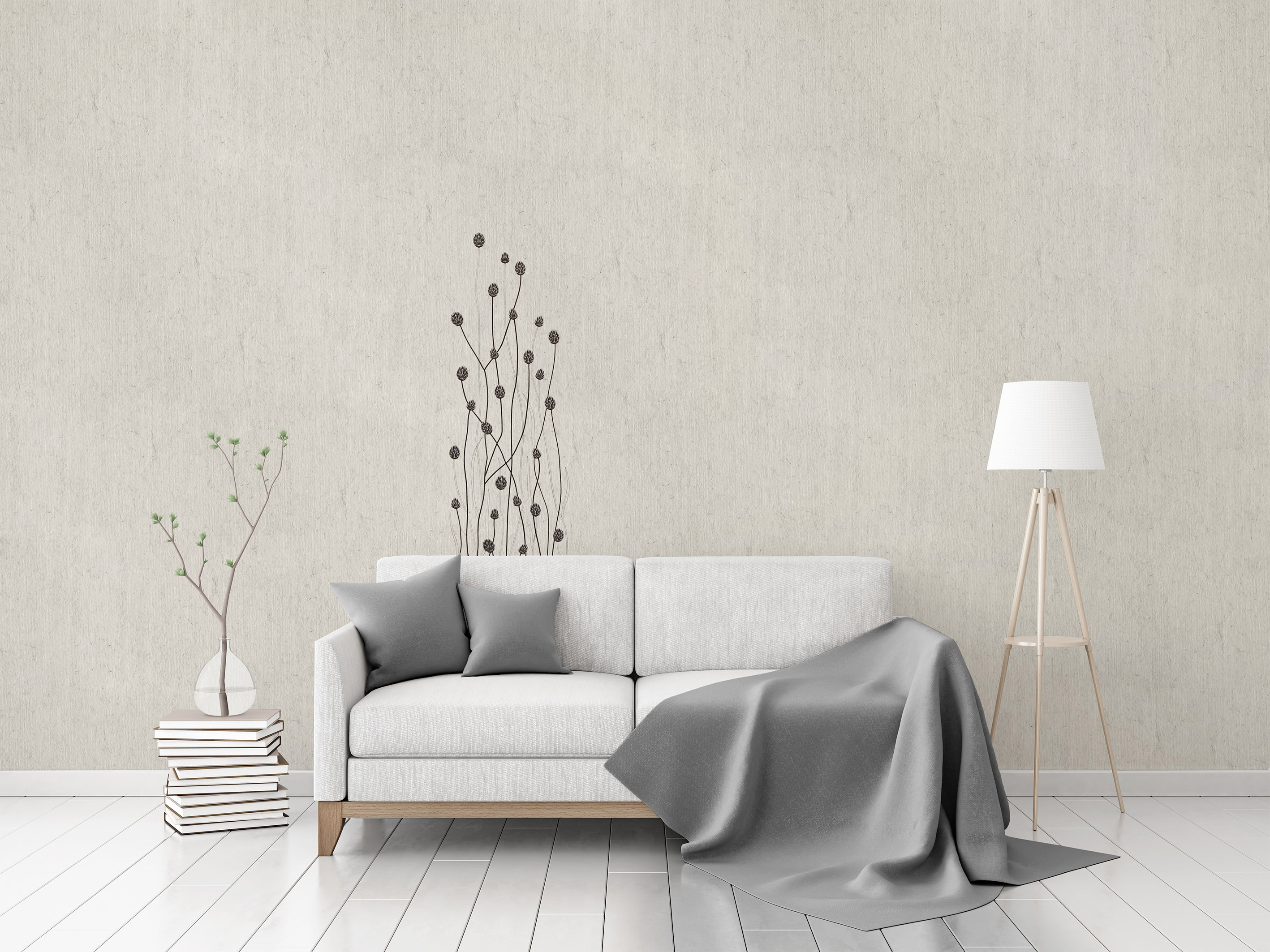 "Flax Wallpaper embroidered ""gras long"" – available since 15.01.2020"
