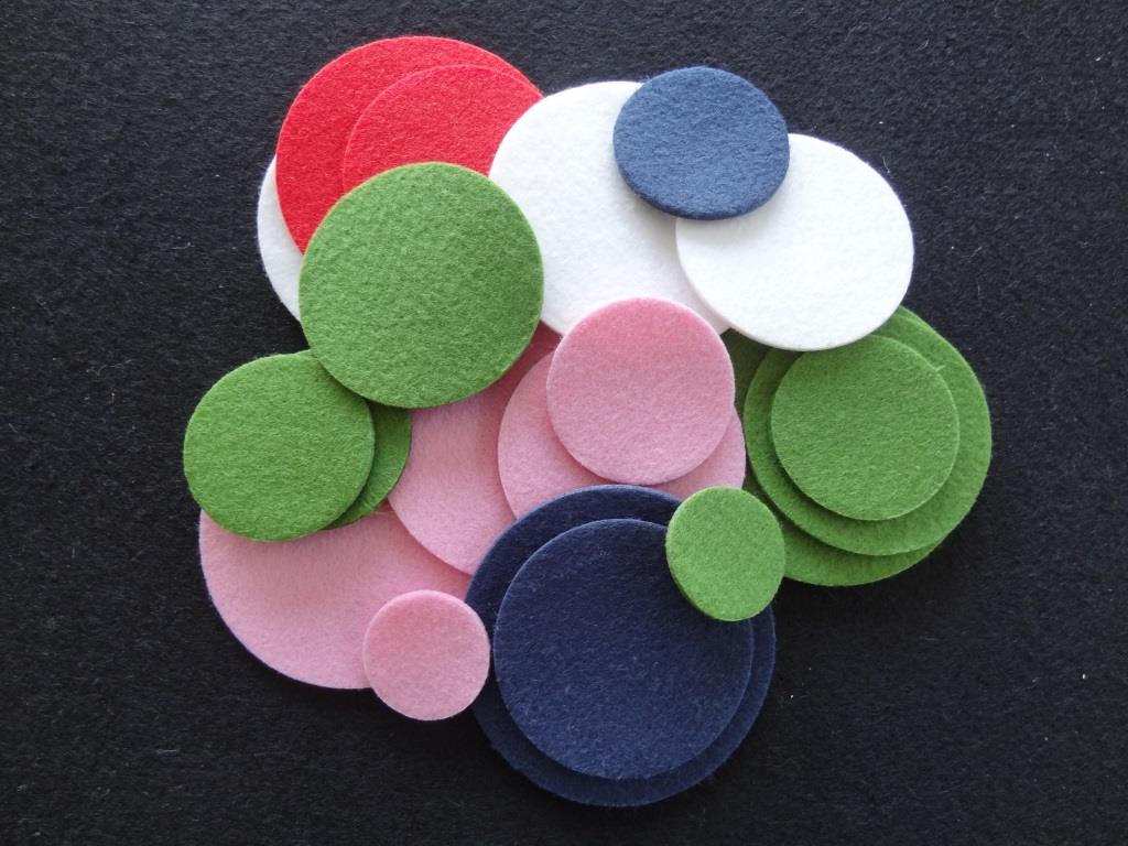 Die-Cuts Circles, 20 pieces