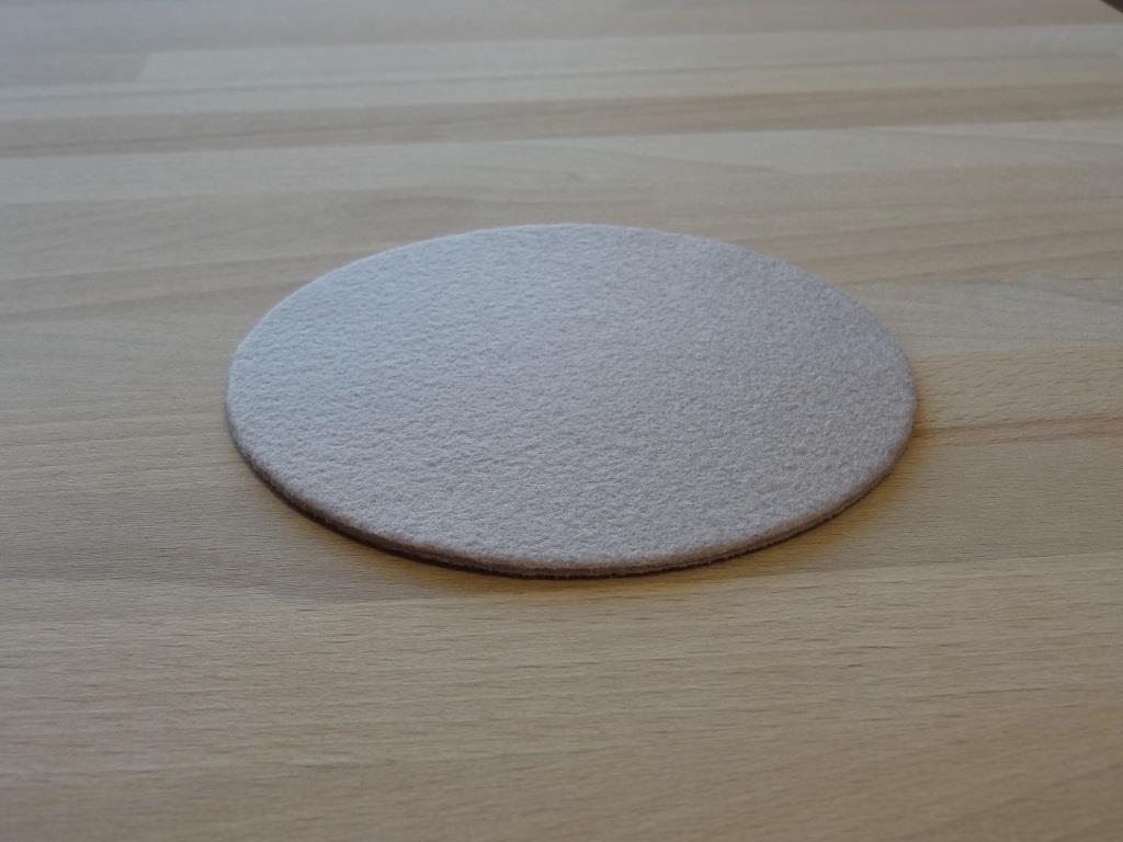 Glasuntersetzer Vlies / Stück, D=11,2cm, Mauve