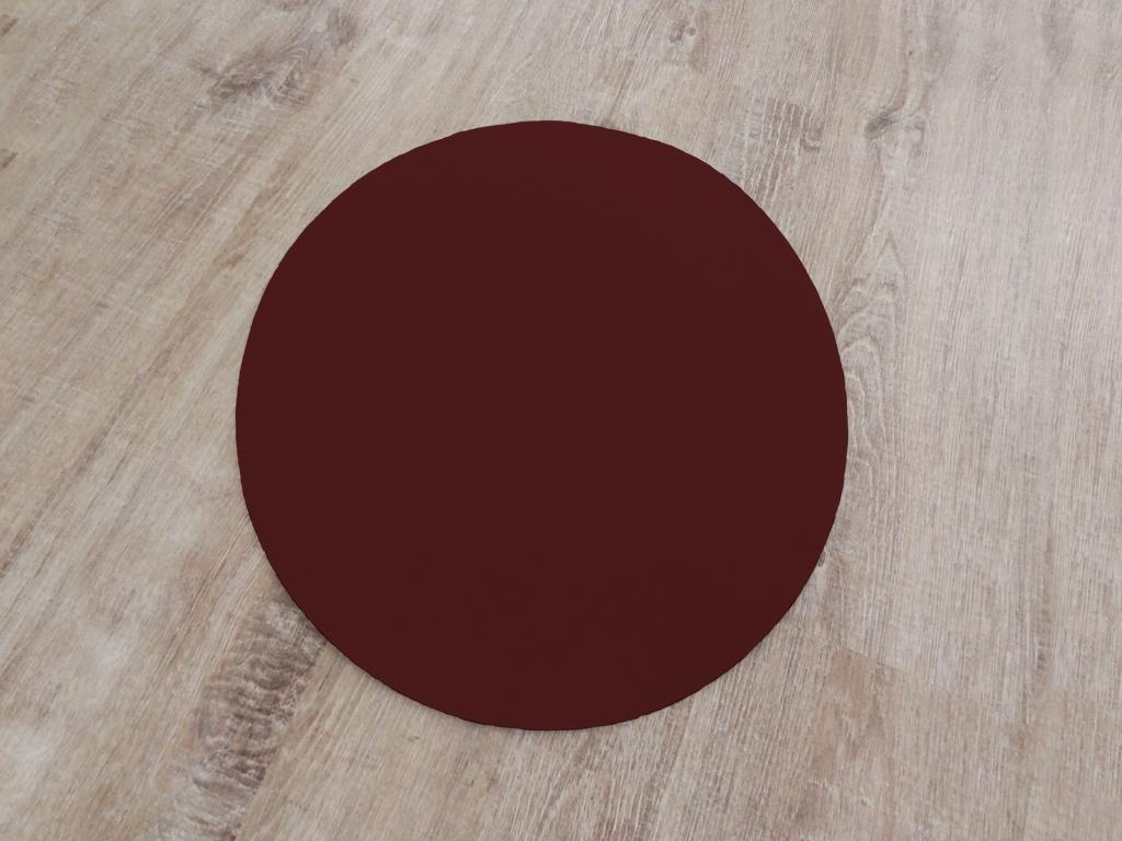 Placemat round, diameter = 40 cm / piece, bordeuax