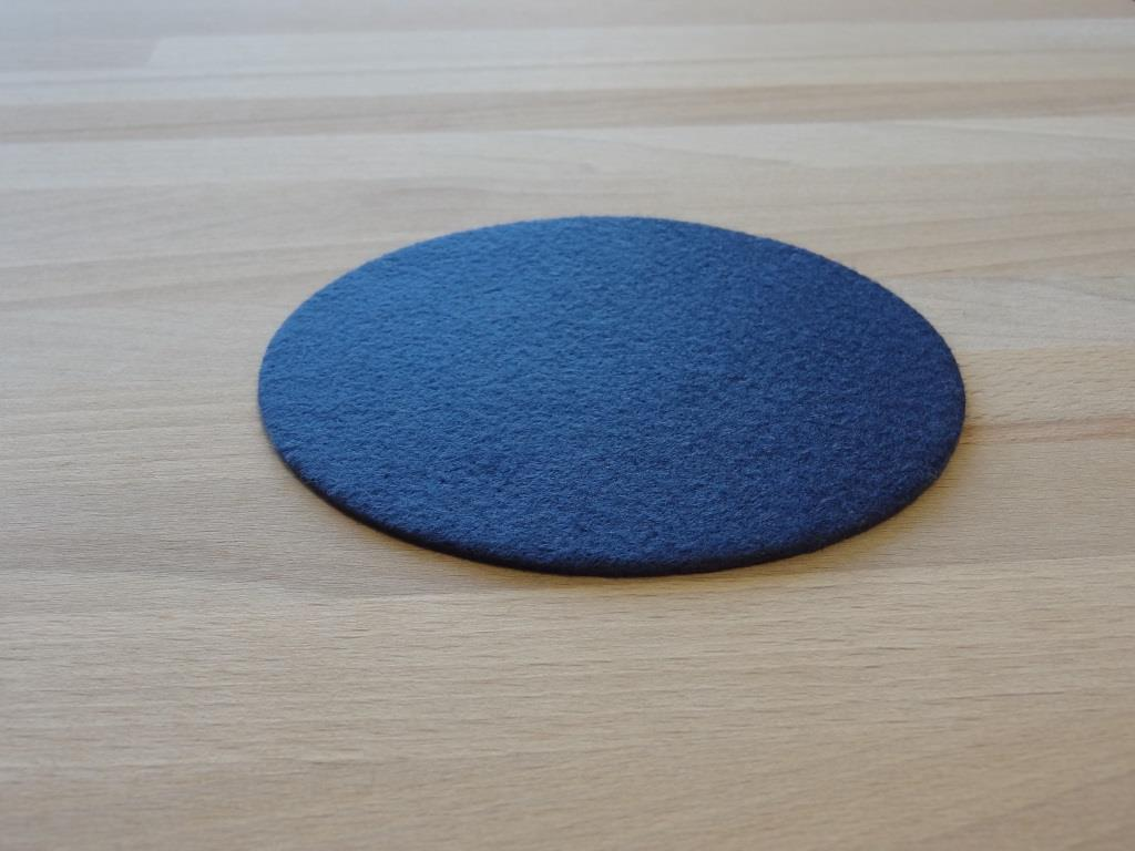Glasuntersetzer Vlies 6er Set, D=11,2cm, Royalblau