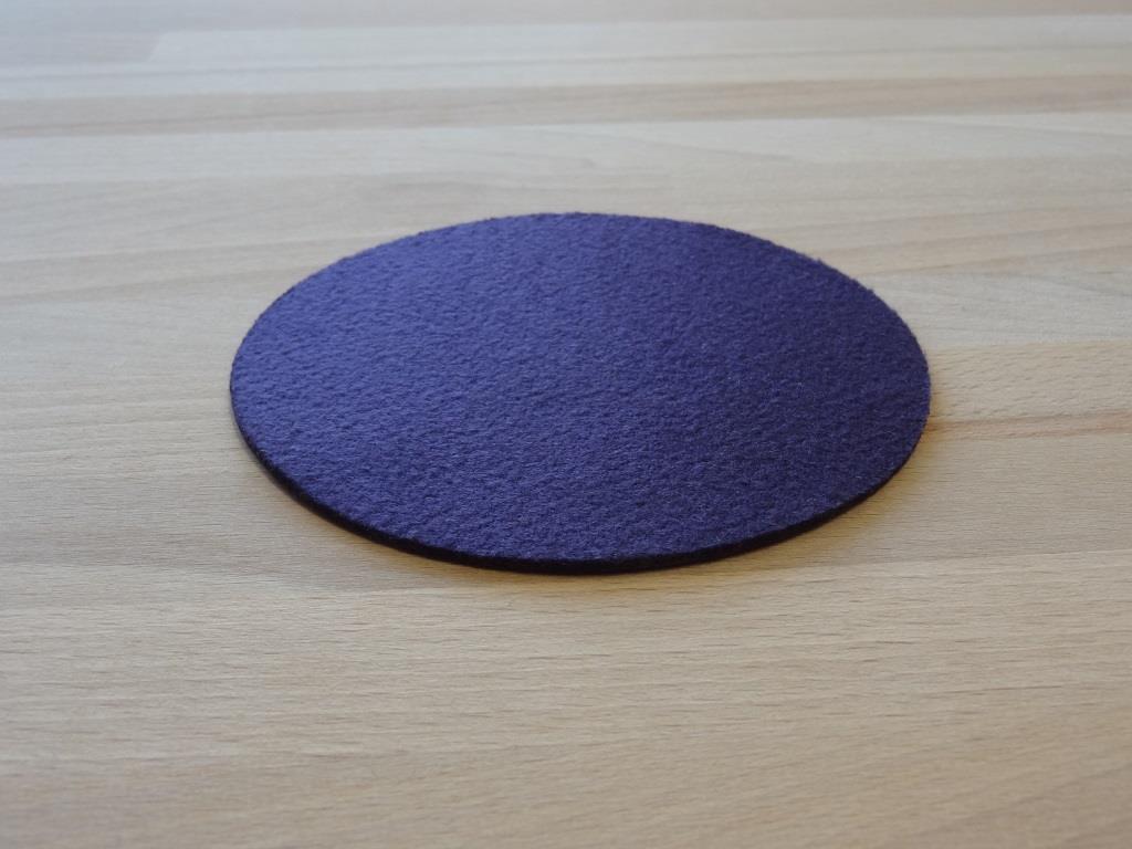 Glasuntersetzer Vlies 6er Set, D=11,2cm, Violett
