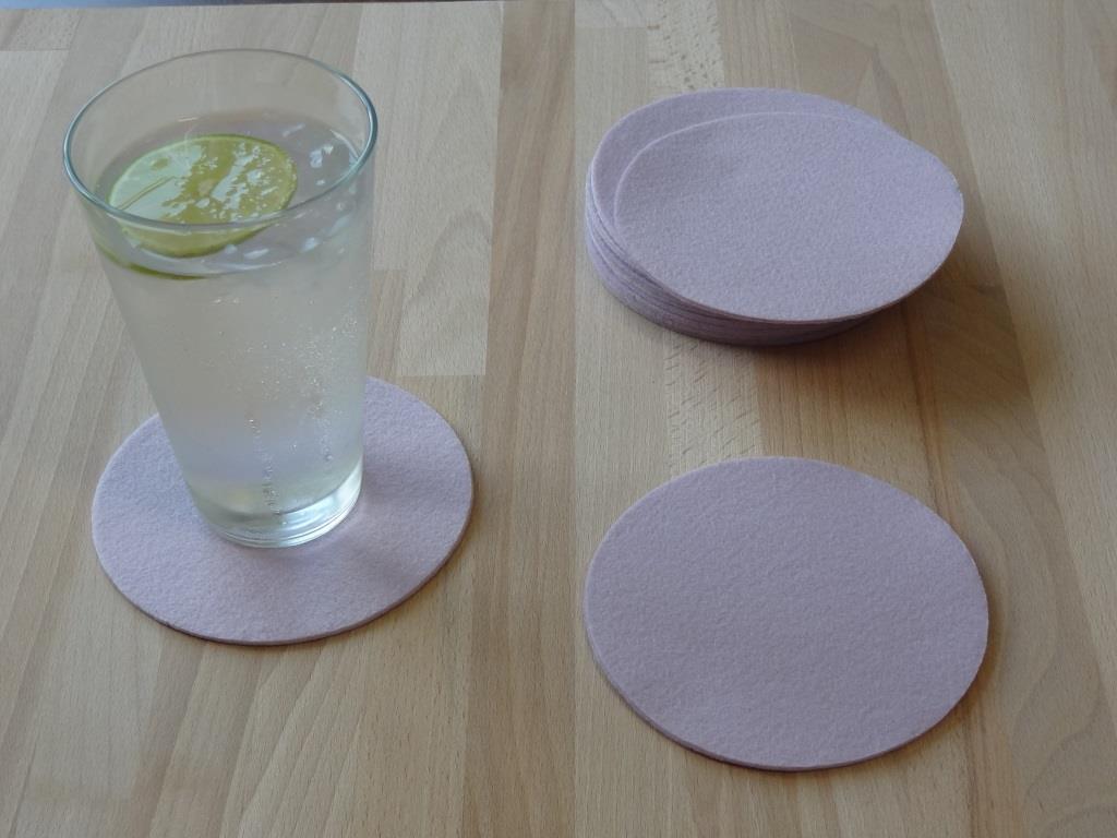 Glasuntersetzer Vlies 12er Set, D=11,2 cm, Flieder