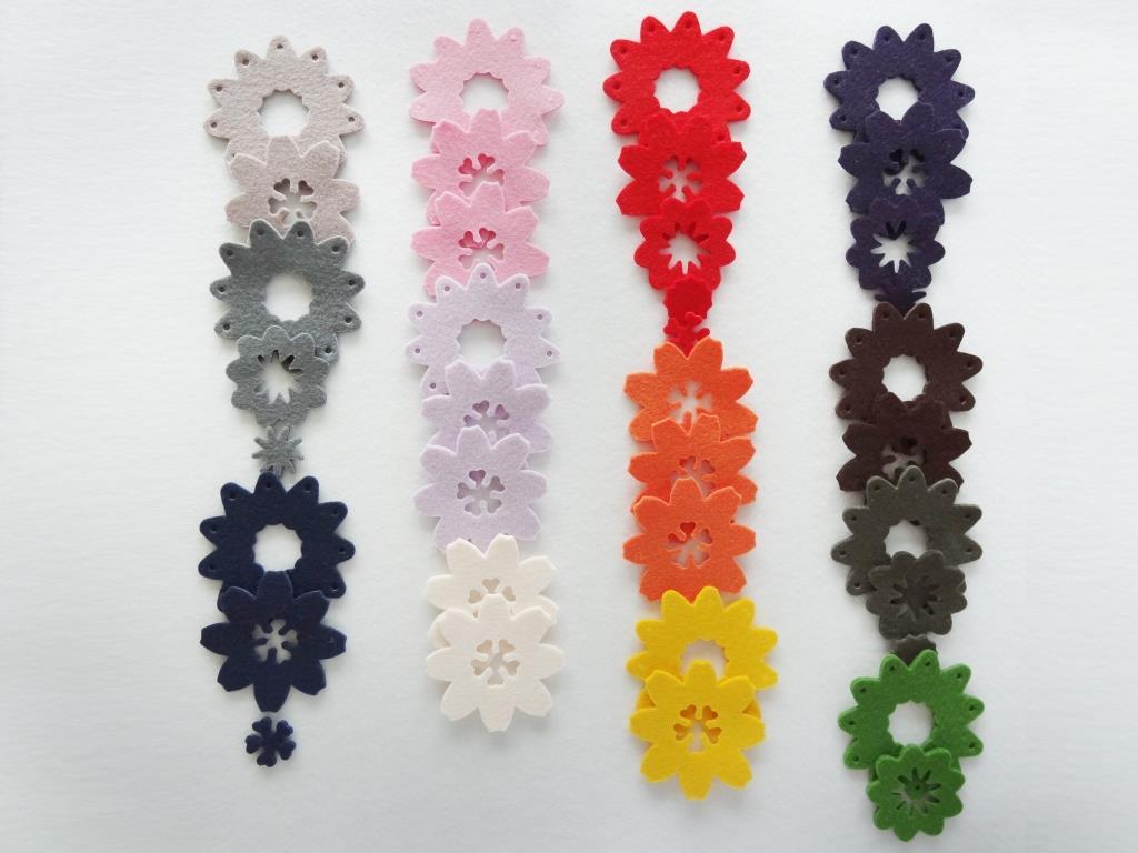 Stanzlinge Blumen, Bunt - 20 Stück