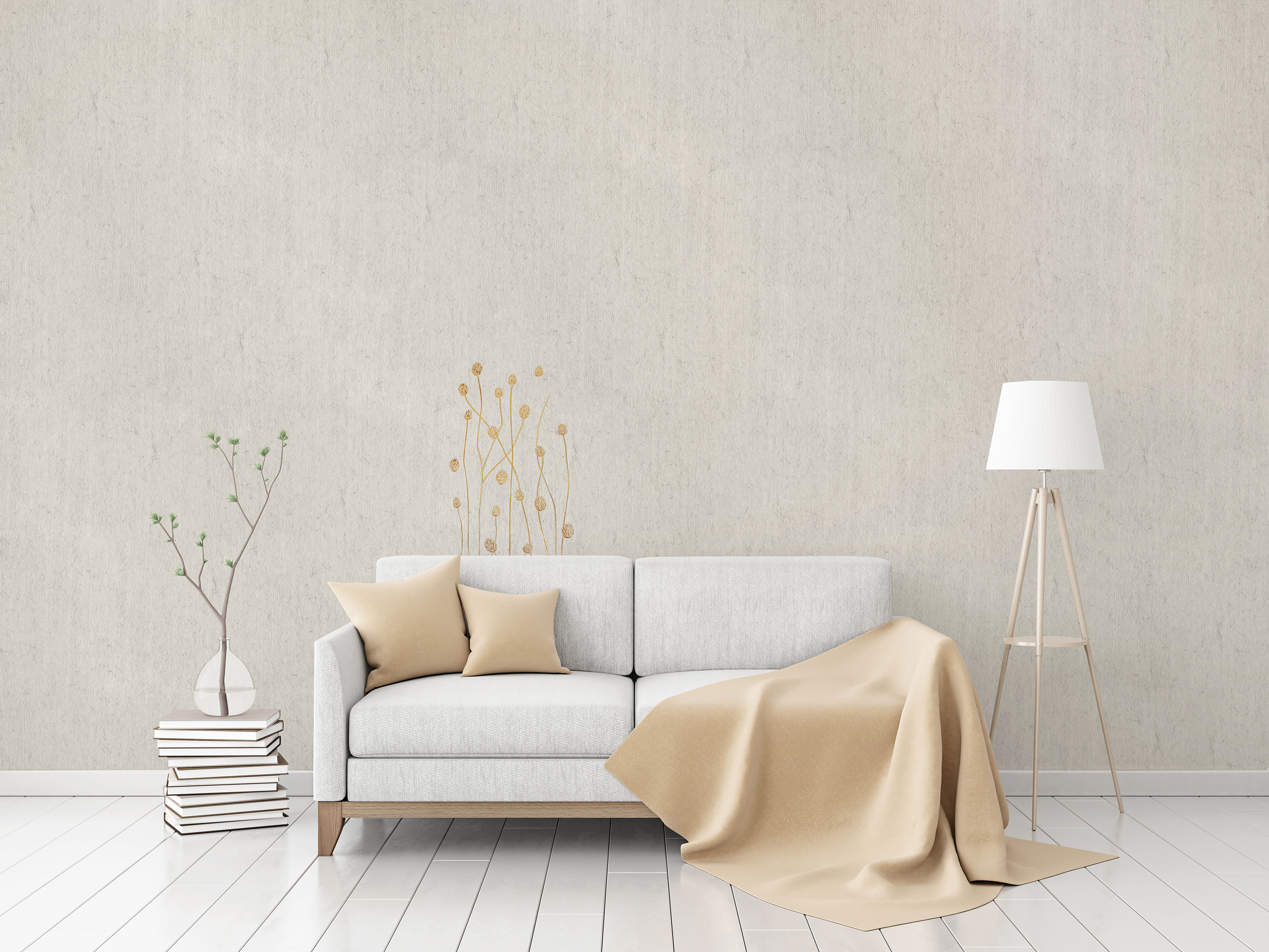 "Flax Wallpaper embroidered ""gras short"" – available since 15.01.2020"
