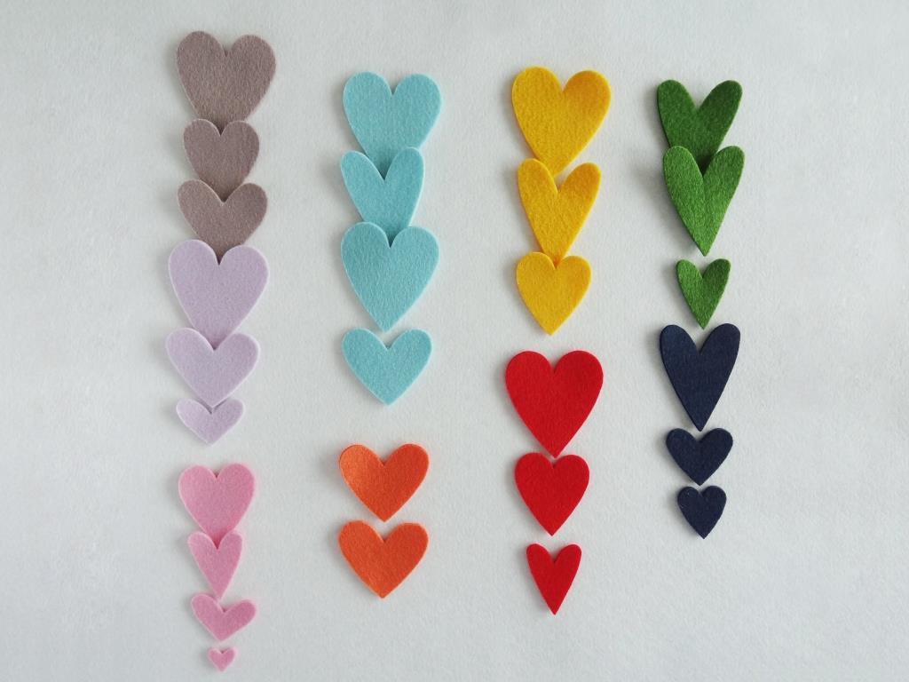 Stanzlinge Herzen, 20 Stück