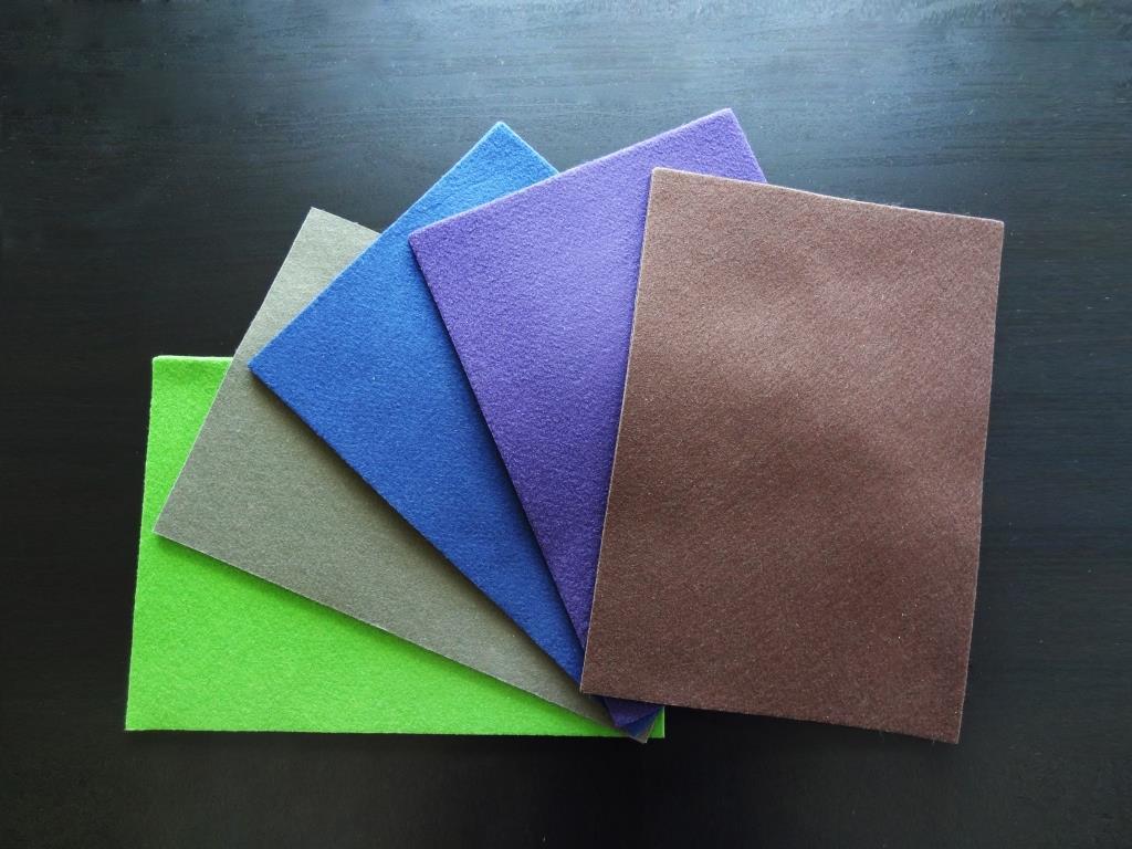 Handicraft Nonwovens A4, pack of 10 – green, khaki, royal blue, purple, mocha