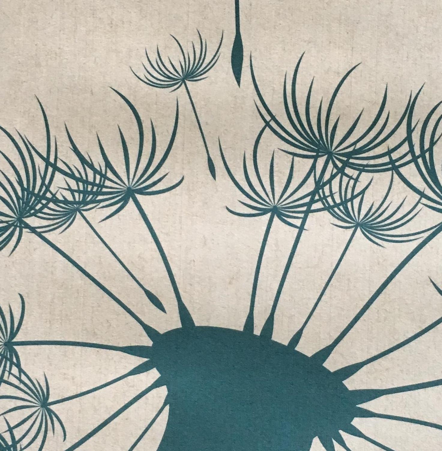"Flachstapete bedruckt ""Dandelion Clock"""