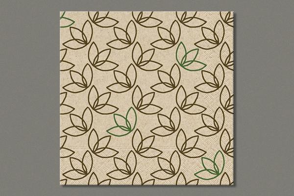 "Cocktailserviette ""Leaf pattern"" 24x24 cm, 25 Stück"