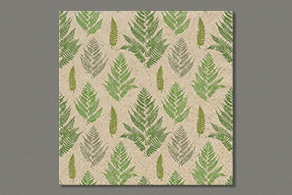 "Lunch Napkins  ""Farn pattern"" 33x33 cm, 25 pieces"